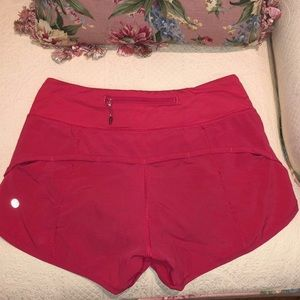 Pink Lululemon Athletic Shorts